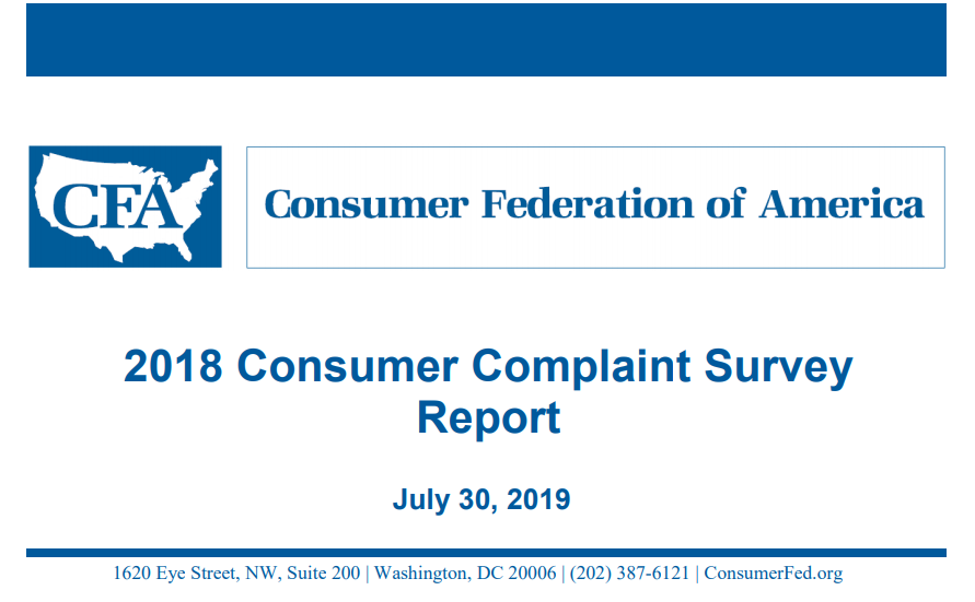 Home Improvement Findings in the Consumer Complaint Survey
