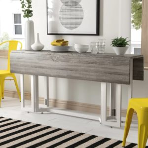 Adams Convertible Dining Table Console Gray and White