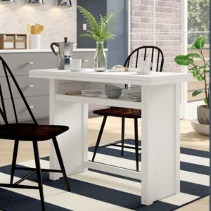 Washam Convertible Dining Table Console White