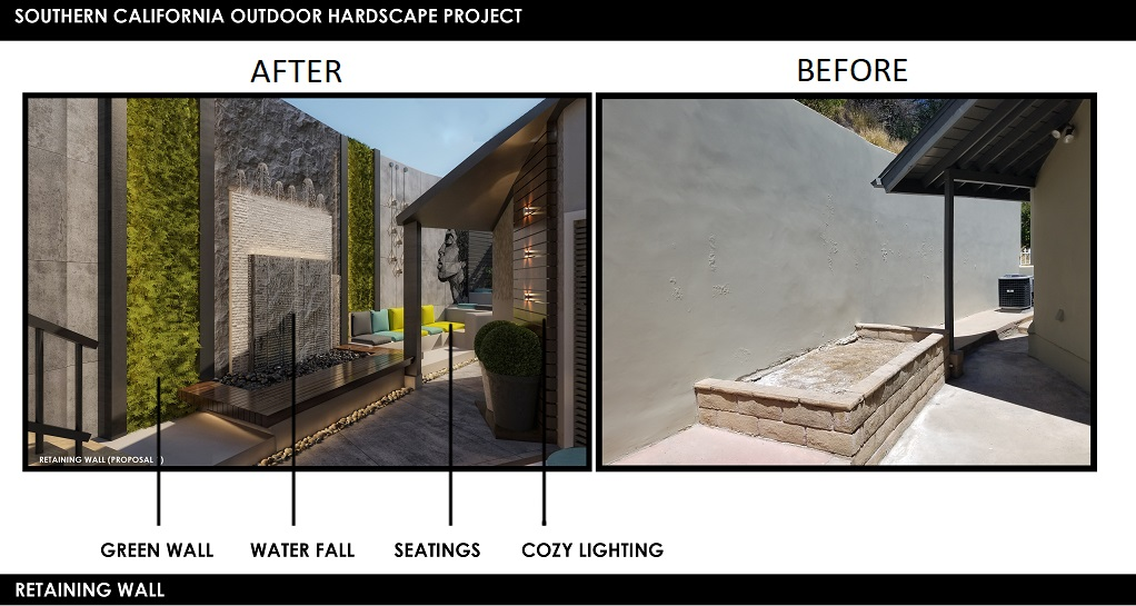Retaining Wall Before After Photos GoPillar Design