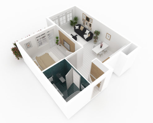 Curbio 3D Virtual Walkthrough Model Pre Sale Renovation