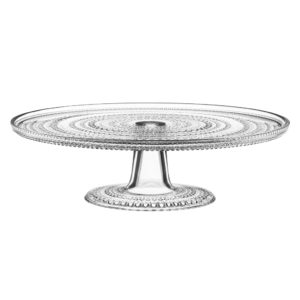 Kastehelmi Glass Cake Stand by Iittala