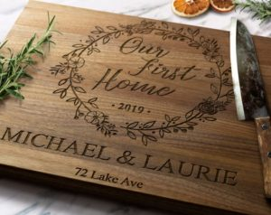 Our First Home Personalized Wood Cutting Board Etsy