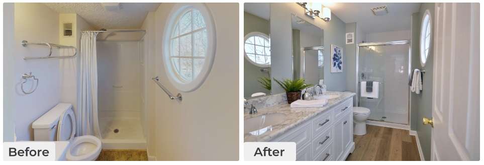 Curbio Before-After Bathroom Pre-Sale Renovation
