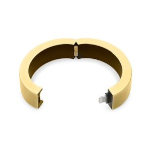 gold phone charging  bracelet uncommongoods