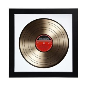 Framed Personalized Golden Vinyl LP Record