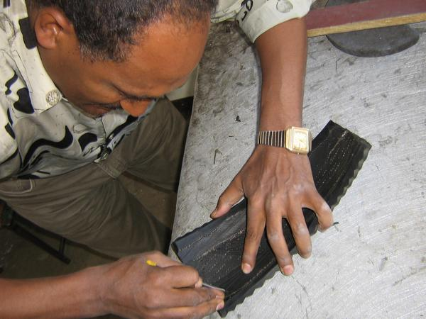 soleRebels Cobbler Upcycled Tire Rubber for Shoes