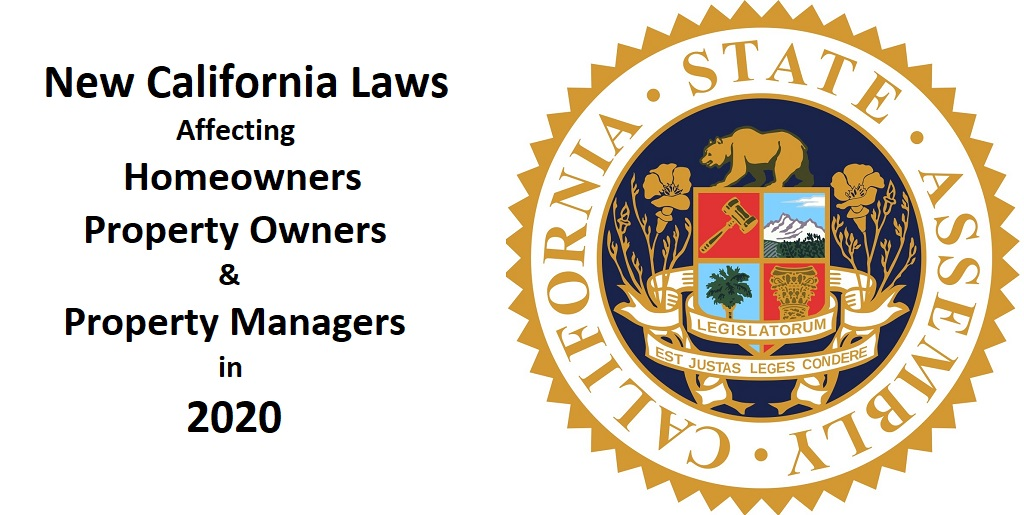 New California Laws that Affect Homeowners in 2020