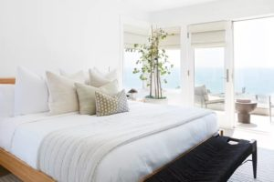 Master Bedroom Layout With Ocean View and Balcony