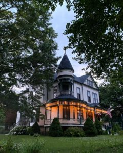 Halloween Decorated Victorian Home Chicago