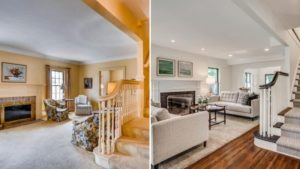 Real Estate Listing Lessons Minnesota 70s Decor Upgrade Living Room Stairway