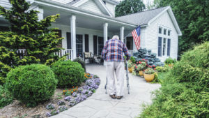 Aging In Place Elderly Entering Home