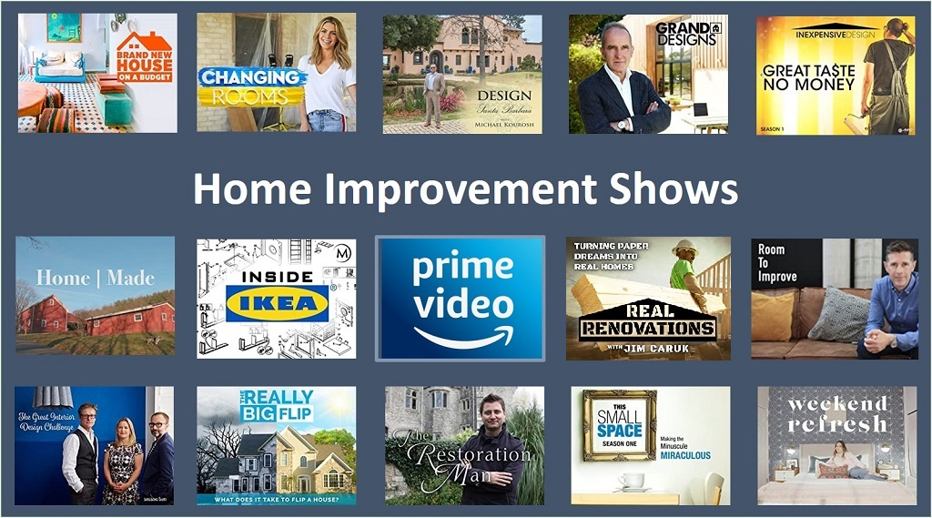 Home Improvement Shows on Amazon Prime: May 2021