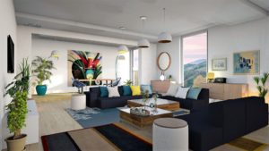Modern Living Room with View